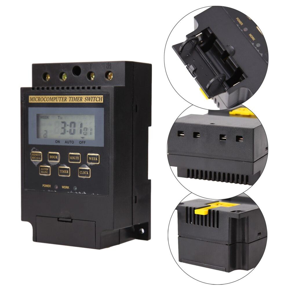 KG316T-II controlador digital AC220V 25A DIN Rail LCD Digital programable interruptor temporizador electrónico