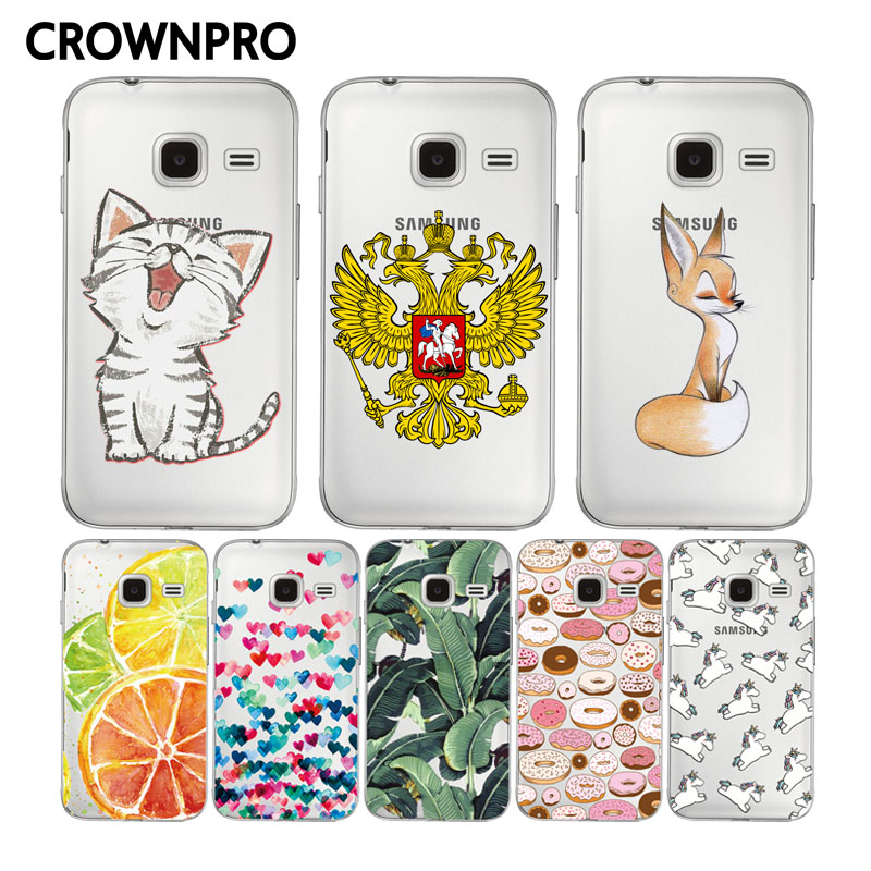 CROWNPRO FOR Samsung Galaxy J1 mini Soft Silicone Back Cover FOR Samsung J1 mini J105 J105H Phone Cases J1 Nxt Duo TPU Cases