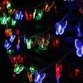 4m 20SMD light RGB String lights butterfly Festival Holiday LIGHTS CHRISTMAS WEDDING Lamps 110V/220V EU/US/UK/AU Plug
