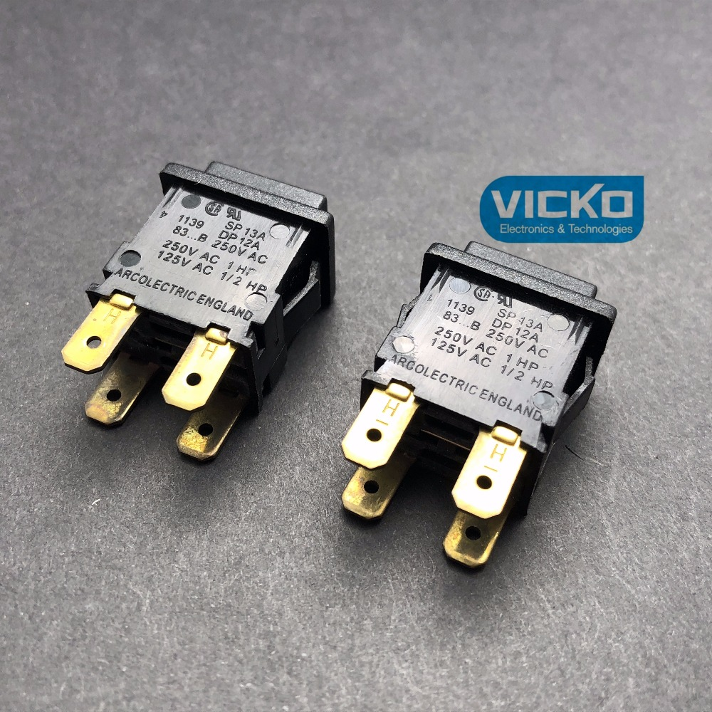 VK original FC8950 8952 import British ARCOLECTRIC square button self locking lock switch