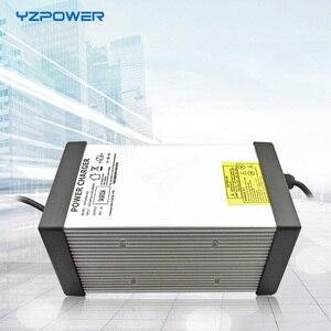 Image 1 - YZPOWER חמה לקנות 87 v 8A 7A 6A 5A עופרת חומצת סוללה מטען עבור 72 v Ebike דואר אופניים סוללה עם 4 קירור מאוורר עם תקע