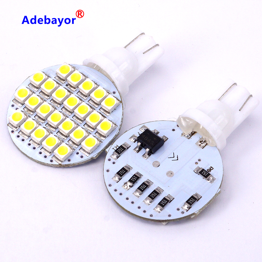 10x T10 921 194 White RV 24 SMD Interior Reading Parking LED