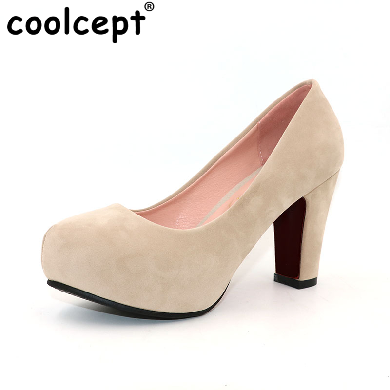 Coolcept women squaren high heels shoes nude color sexy dress lady pumps brand heeled footwear heel shoes size 32-43 P19247 coolcept women high heel sandals platform fashion lady dress sexy slippers heels shoes footwear p3795 eur size 34 43