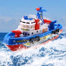 Toddler Baby Bath Toy Boat Rescue Squirts + Rides I