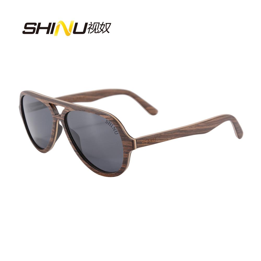 SHINU Wood Sluneční brýle Dámské Pánské Značkové Brýle Polarizované Dřevěné Brýle Oculos De Sol Cool Brýle na brýle Shadow 73013