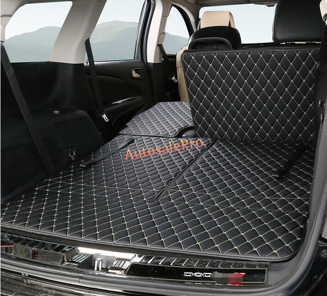 PU leather Rear Trunk Hatch Floor Mat Carpets Protector Pad cover For Dodge Journey 7 seats 2013 2014 2015 2016