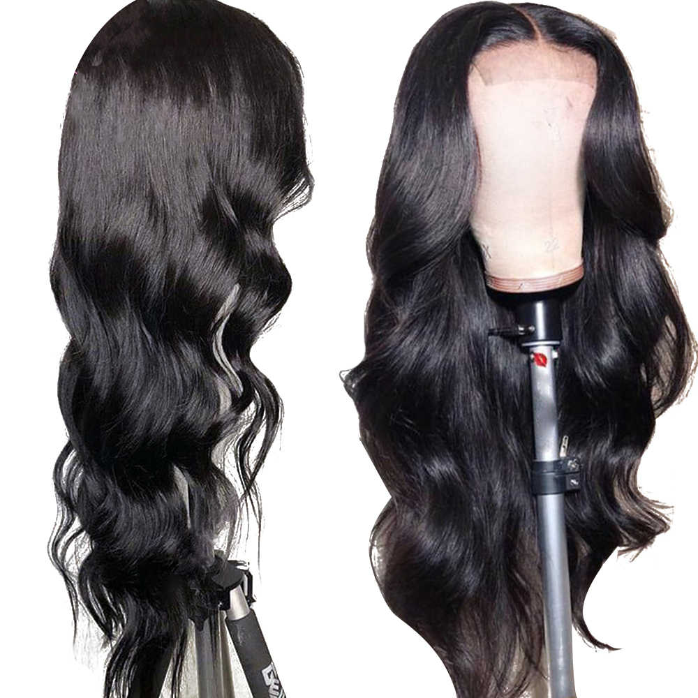 Uneed Malaysian Body Wave 360 Lace Frontal Wigs Pre Plucked With Baby Hair Remy Human Hair Wigs For Black Woman