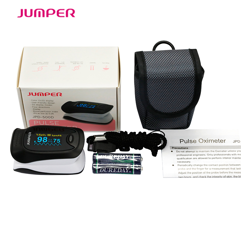 Color OLED oxymeter fingertip pulse oximeter, JPD-500D finger clip oximetro de dedo Blood Oxygen SpO2 Saturation for Health Care