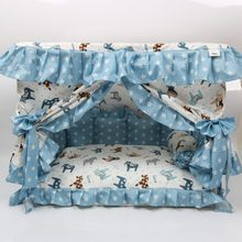 Cotton dog bed cute lace dog house comfortable dog house overall removable and easy to clean(China)