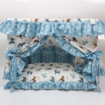 Cotton dog bed cute lace dog house comfortable dog house overall removable and easy to clean