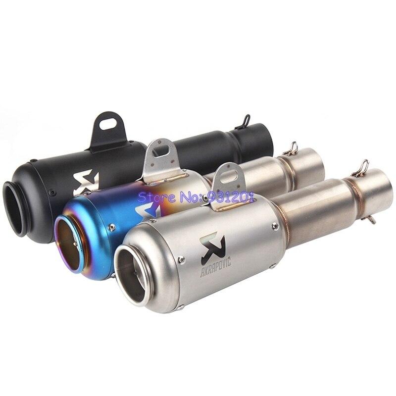 Muffler Exhaust-Pipe Inlet Motorbike-Modified-Muffler-Pipe Akrapovic 51mm Universal Motorcycle