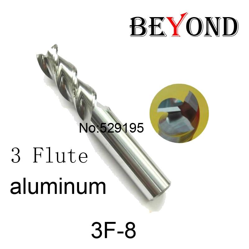 3f-8.0, hrc50, carbure Carré Extrémité aplatie Mill, 3 flûte Fraise Pour  Aluminium Endmill Outils Carbure Cnc fin Bits de Routeur de Moulin d22da2a1b1d0