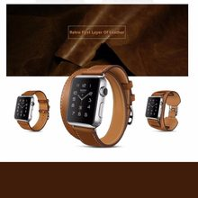 Genuine leather watch strap band for hermes apple watch 42mm 38mm bracelet  Leather watchband hermes bbd36a502a0