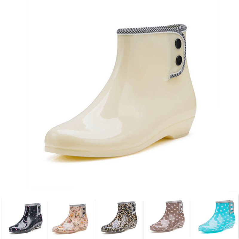 8f29a9fc1056 Free shipping fashion women s boots short tube plus velvet rain boots  garden overshoes anti-skid water shoes rain dual-use