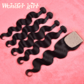 Onda del cuerpo del pelo virginal peruano con cierre de 5 paquetes shiping libre de la onda del cuerpo peruano con cierre de base de seda de cierre sin procesar