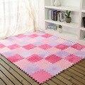 eva plus warm cashmere stitching. cashmere mats, children's soft development of crawling form, baby play mat puzzle game