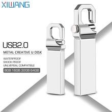 Usb flash drive 32gb 2.0 metal usb stick 64GB mini keychain 4GB 8GB 16GB 128GB high speed pendrive waterproof gray custom LOGO