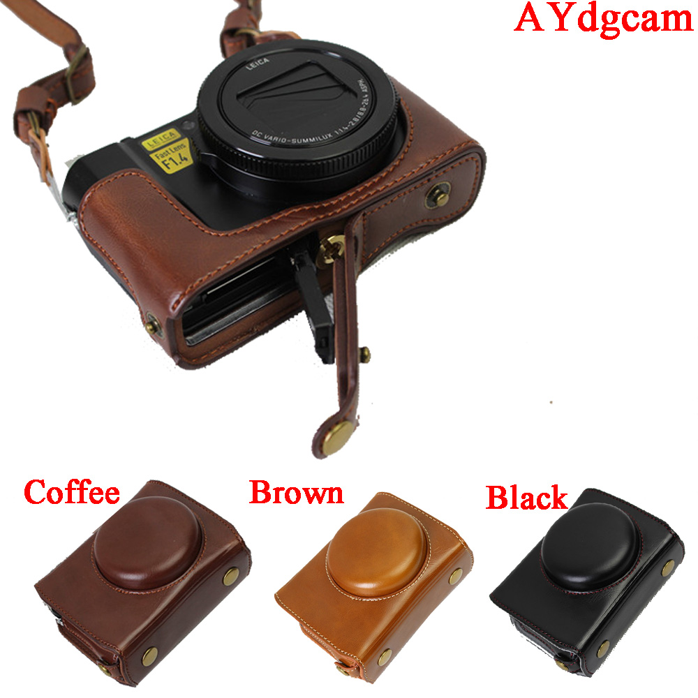 New Luxury Leather Camera Case Bag For Panasonic LX10 LUMIX LX10 DMC LX10 Camera Bag Body