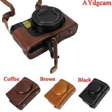 Новый Роскошный Кожаный Чехол для Камеры Сумка Для Panasonic LUMIX LX10 LX10 DMC-LX10 Камера Сумка Набор Для Тела Открытой Крышкой батареи дизайн