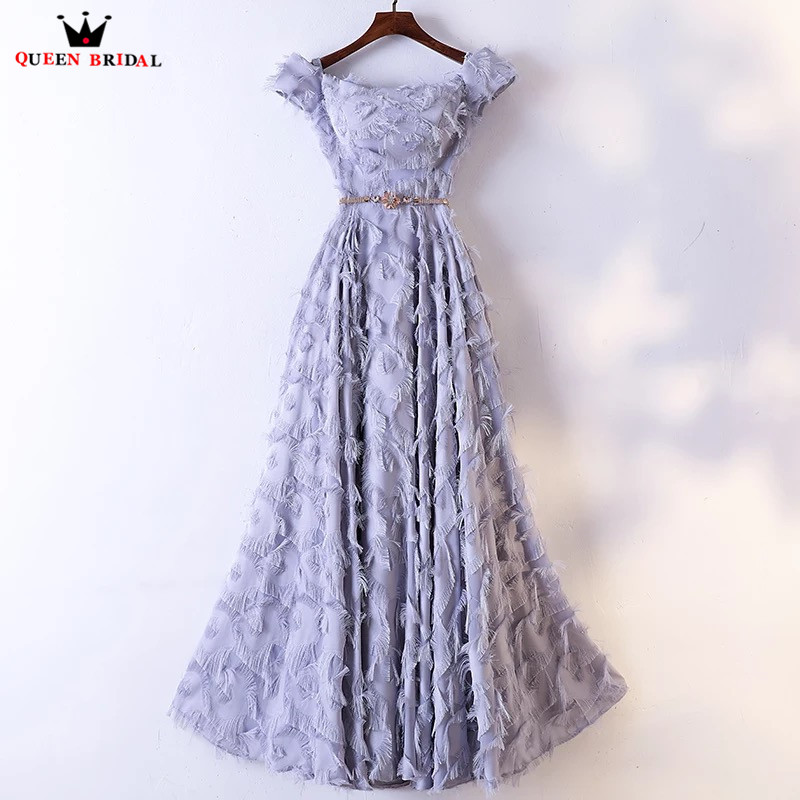 A line Floor Length Lace Appliques Elegant Formal Evening Dresses 2018 New Fashion Evening Gown Robe