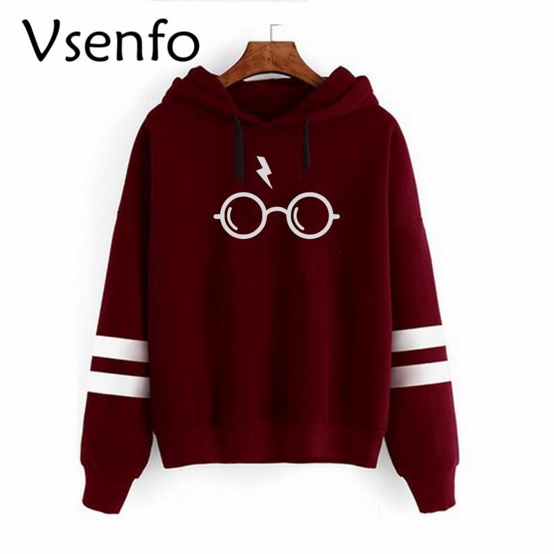 Vsenfo Harry Style Glasses Print Women Sweatshirt Hoodies Fleece Top Slim Tracksuit Brand Clothes Harajuku Trumble Moletom