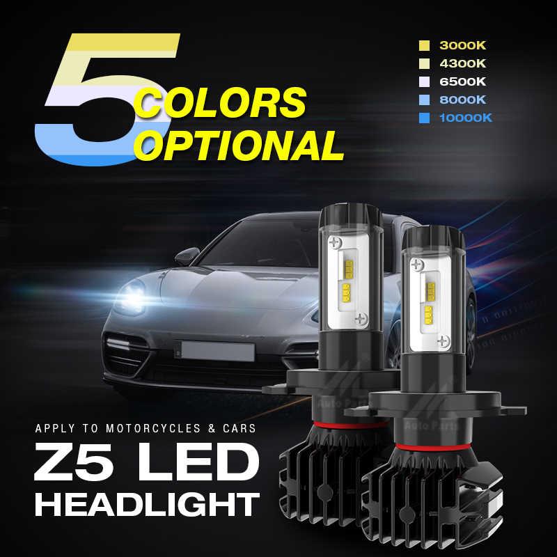 Car Light Led H4 H7 H11 H1 H3 HB3 HB4 Headlight Bulb H13 9004 9005 9006 9007 12V 9000lm 3000K 4300K 6500k 8000K 10000K Auto Lamp
