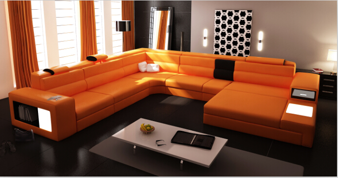 Online Buy Wholesale guangzhou furniture leather living room sofas