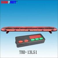 TBD 13L51 1.5 M אדום סופר מבריק באיכות גבוהה LED lightbar  חירום/אש המשטרה/  DC12V/24 V רכב גג פלאש Strobe אור-בנורת התראה מתוך אבטחה והגנה באתר