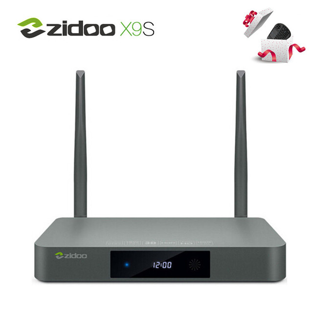 ZIDOO Caixa de TV Android 6.0 Realtek RTD1295 X9S Quad Core 2G/16G HDMI OUT/IN KODI TV Inteligente IPTV Hebraico Russo Europa Media Player