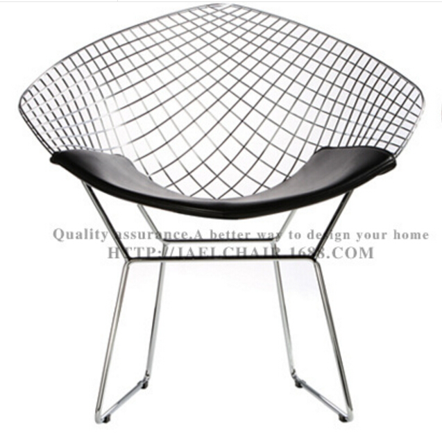 Marvelous Hot Selling Famous Design Leisure Chrome Metal Wire Chair Bertoia Diamond  Chair For Living Room And