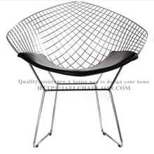 Hot Selling Famous Design Leisure Chrome Metal Wire Chair Bertoia Diamond Chair for Living Room and Dinning Room Shipping by DHL