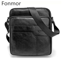 Genuine Leather Men Male Vintage Messenger Bags Handbags Luxury Men Cow Leather Business Handbags Small Crossbody