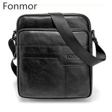 Genuine font b Leather b font font b Men b font Male Vintage Messenger Bags font