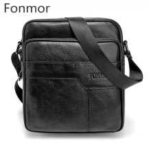 Genuine Leather Men Male Vintage Messenger Bags Handbags Luxury Men Cow Leather Business Handbags Small Crossbody Shoulder Bags