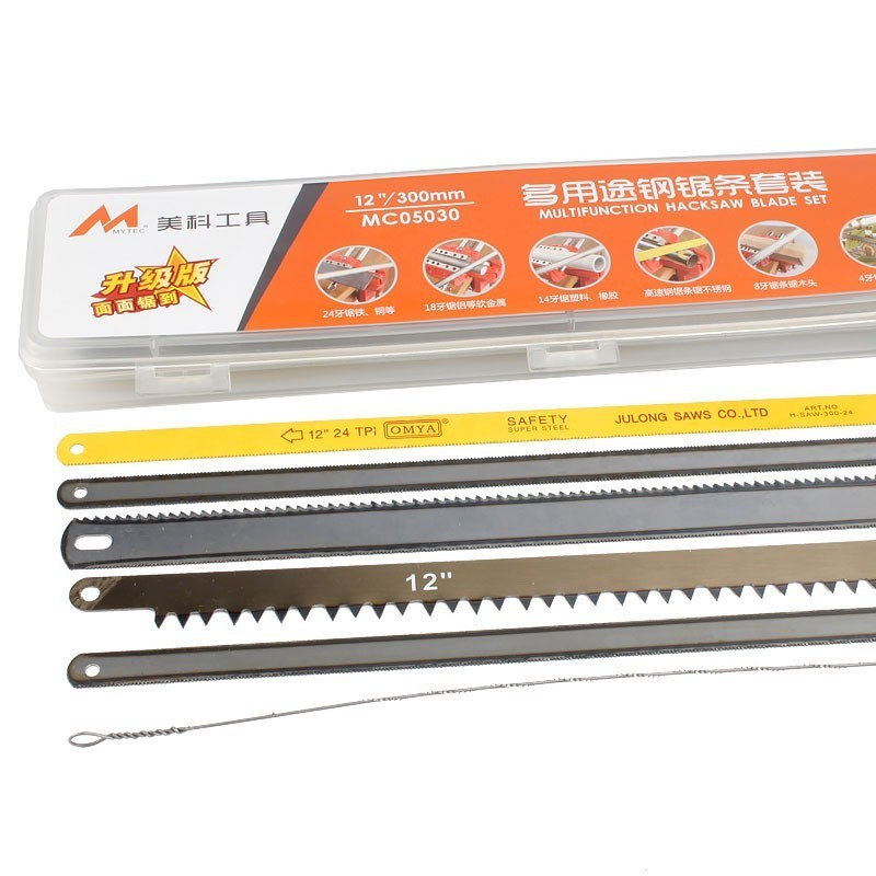 Reciprocating Saw Blades Set 50 Pieces Hacksaw Replacement Alloy Steel For Different Metal Aluminium Plastic Wood Hand Tools