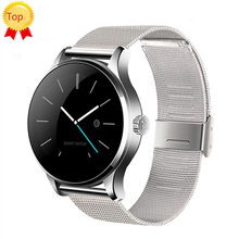 [Auténtica] lemfo k88h smart watch ips apoyo de pantalla redonda huawei pulsómetro bluetooth smartwatch para apple ios android