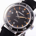 Debert 41mm black bezel Black Dial Sapphire glass Automatic Mens watch 1760