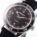 Debert 41mm black bezel Black Dial Sapphire vidro Automáticas Mens watch 1760