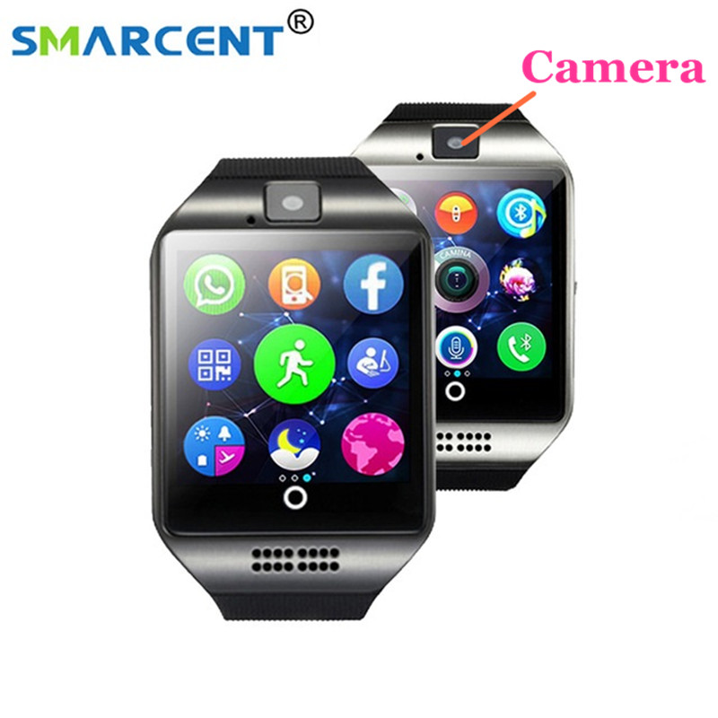 Smarcent <font><b>S18</b></font> Bluetooth Smart Watch Support SIM TF Card With Camera Facebook Whatsapp Twitter Sync SMS For IOS Android <font><b>Phone</b></font>