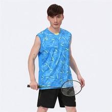 Free shipping 2016 new style clothes badminton tennis sport shirt men's sportswear (shirt + shorts)