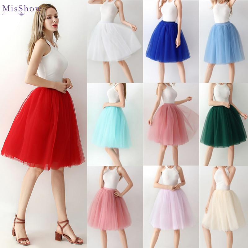 Jupon Femme 2019 Hot Sale Short Petticoats Women Tulle Dress Skirts Underskirt For Prom Evening Dresses Wedding Accessories