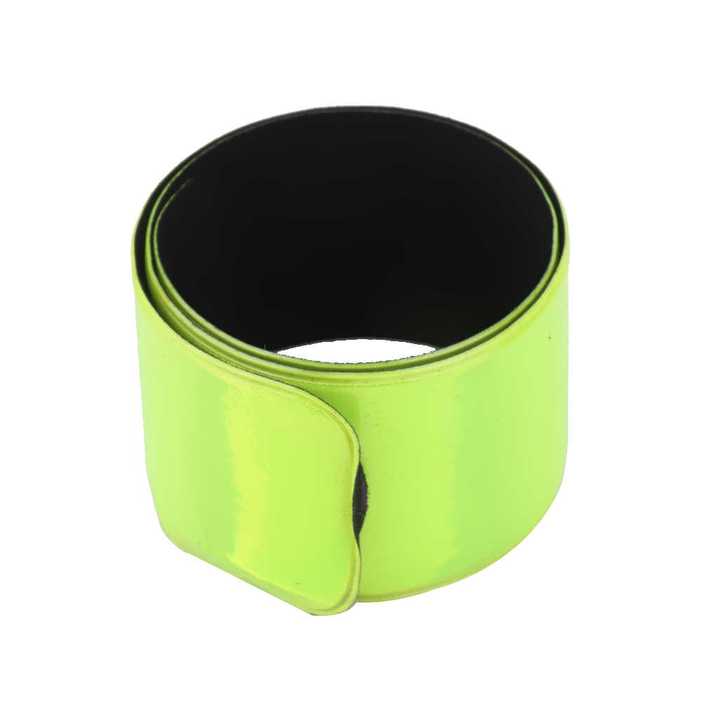 Nowy MagiDeal 30/40CM pasek odblaskowy bransoletka nadgarstek kostki opaska na ramię jazda zielona noc światło bezpieczeństwo do chodzenia bieganie jazda konna