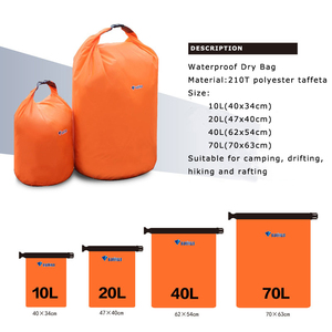 40L 70L Waterproof Dry Bag Pack Sack Swimming Rafting Kayaking River Trekking Floating Sailing Canoing Boating Water Resistance
