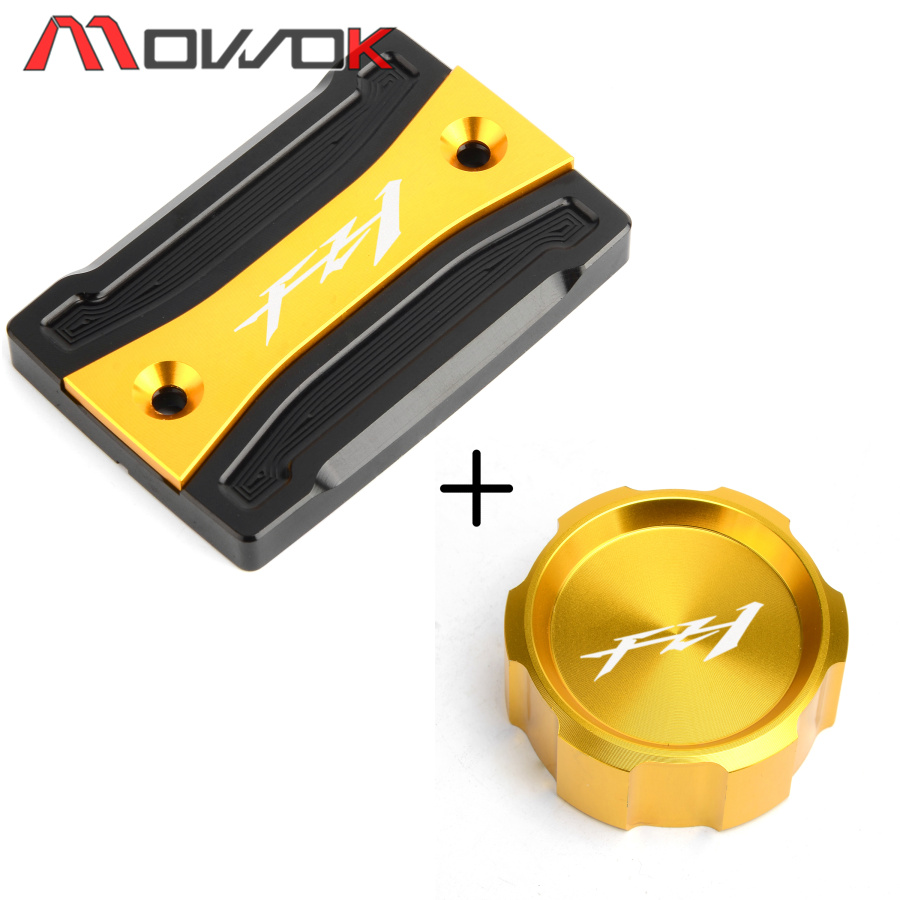 Flash Deals CNC Front+Rear Brake Fluid Cylinder Master Reservoir Cover Cap For YAMAHA FZ1 Fazer Fz1 2006-2013 2014 2015