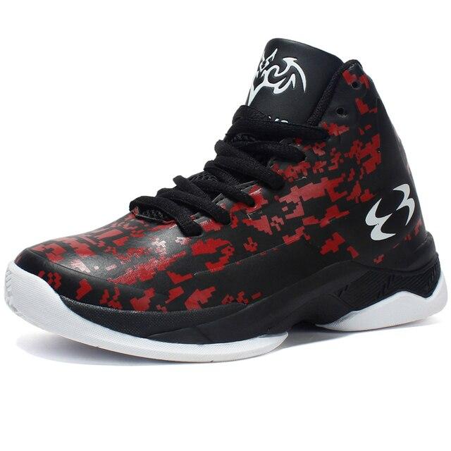 115168c3cc78b Top semelle épaisse antidérapant résistant à l usure enfants baskets  garçons chaussures de Basket-