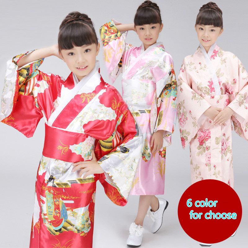 تصميم جديد آسيا والمحيط الهادئ الملابس أعلى جودة 6 اللون اليابانية الفتيات الجدة مساء اللباس خمر كيمونو يوكاتا