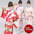 Nuevo Diseño de Asia y Las Islas Del Pacífico Ropa de Calidad Superior 6 Color Japonés Niñas Novedad Kimono Yukata Vestido de Noche de La Vendimia