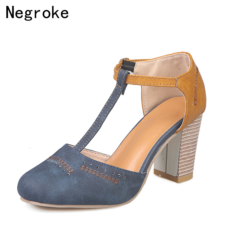 2019 Sexy Square High Heels Gladiator Sandals Women Pumps Stitching Leather Summer Dress Shoes Woman High-Heeled Zapatos Mujer2019 Sexy Square High Heels Gladiator Sandals Women Pumps Stitching Leather Summer Dress Shoes Woman High-Heeled Zapatos Mujer