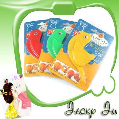 50pcs/Lot New Kitchen Tool Bird Shape Plastic Multi-Function Fruit Citrus Orange Lemon Peeler