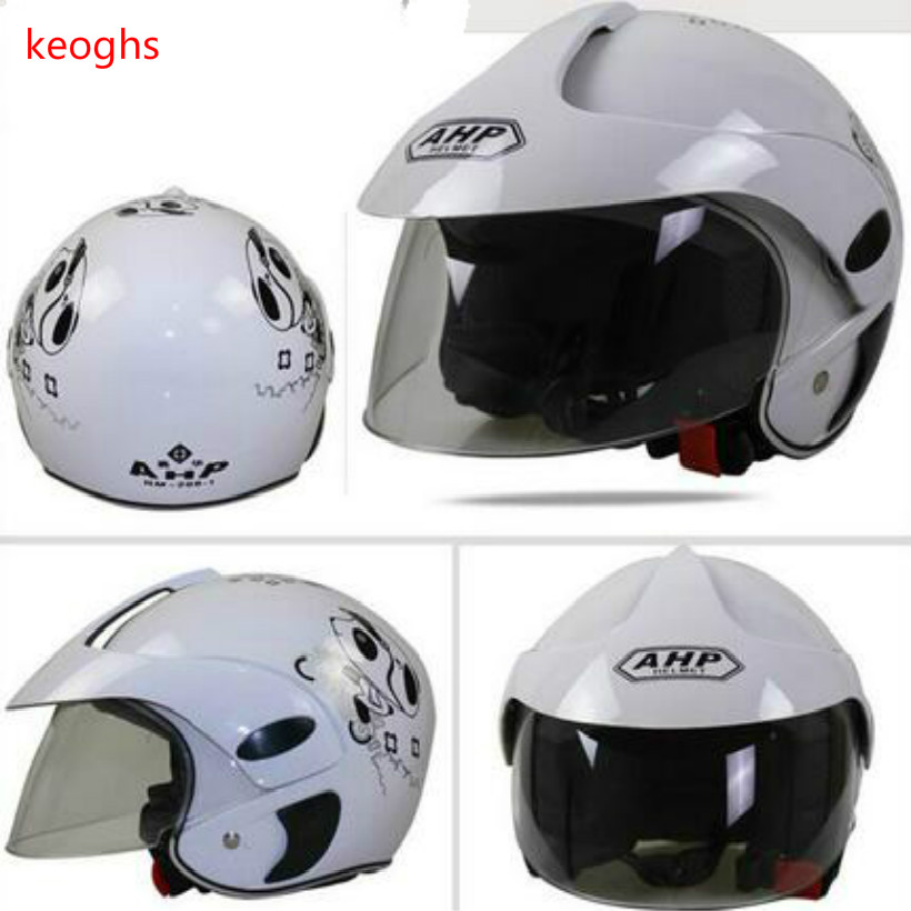 white yellow black average size new style High quality cartoon panda butterfly kids motorcycle helmet child kids helmet